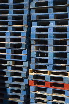Free Stacked Pallets 3 Royalty Free Stock Photography - 7741197