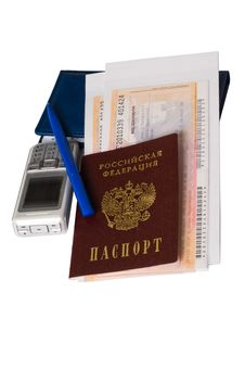 The Passport And Travel Papers. Royalty Free Stock Photography