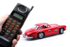 Old Simulation Mobile Phone. Royalty Free Stock Photography