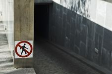 Free Forbidden To Pedestrians Royalty Free Stock Photography - 7741887