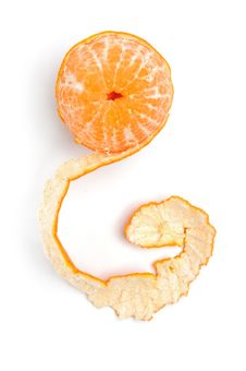 Free Half-peeled Tangerine Royalty Free Stock Photography - 7742157