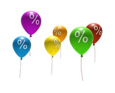 Free Balloons With Percent Symbols Stock Images - 7742274