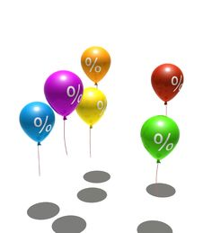 Free Balloons With Percent Symbols Royalty Free Stock Photos - 7742278