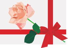 Free Rose In A Gift Stock Photography - 7742522