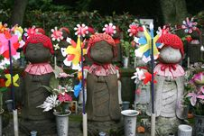 Free Ceremonial Dolls At A Temple In Japan Royalty Free Stock Photos - 7742548
