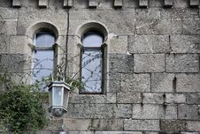 Fragment Of Old Castle Wall Royalty Free Stock Photo