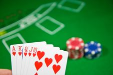 Free Royal Flush Stock Image - 7742681