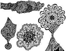 Free Unique Doodles Royalty Free Stock Image - 7742736