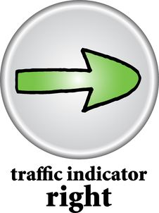 Free Traffic Indicator - Right Sign Royalty Free Stock Images - 7742839
