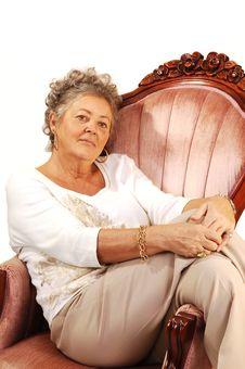Free Senior Woman Relaxing. Royalty Free Stock Photo - 7743025