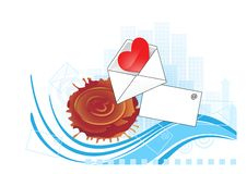 Design Element With Envelope And Heart. Stock Image