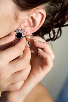 Ear-ring Stock Photo
