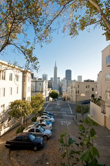 San Francisco Downtown Neighborhood Royalty Free Stock Images
