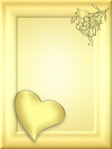 Love Valentine Frame (01) Royalty Free Stock Images