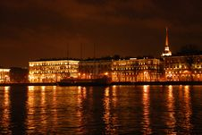 Free Night View Of Neva River Royalty Free Stock Photos - 7744138