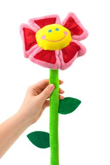 Free Toy Flower In Hand Stock Images - 7744294