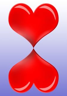 Free Heart Hourglass Stock Photo - 7744330