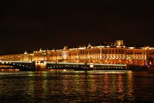 Free Night View Of Neva River Royalty Free Stock Photos - 7744558