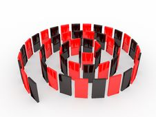 Free An Isolated Black And Red Domino Blocks Stock Photos - 7744583
