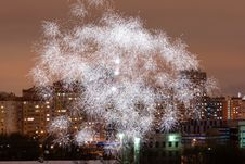 Free Fireworks In The City Stock Photos - 7744723