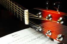 Free Guitar Headstock And Tuning Pegs Royalty Free Stock Photos - 7744848