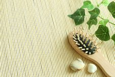 Free Spa Background Of Brush And Stones Royalty Free Stock Image - 7744876