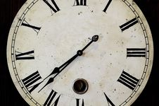 Antique Looking Clock Face Royalty Free Stock Photos