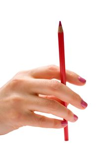 Free Pencil In Hand Stock Image - 7745861