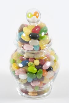 Free Jellybeans In A Jar Royalty Free Stock Photos - 7746098