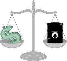 Oil Vs Dollar Royalty Free Stock Photography
