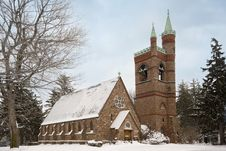 Free Stately Winter Church Stock Photos - 7746213