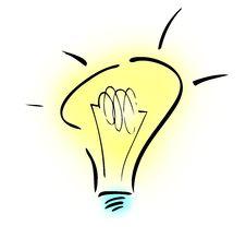 Light Bulb Illustration Royalty Free Stock Photos