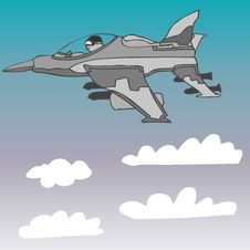 Free Fighter Jet Vector Royalty Free Stock Photos - 7746648