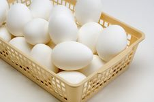 Free Eggs In A Basket Stock Photos - 7746893