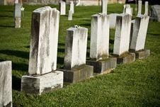 Free Blank Gravestones Royalty Free Stock Photo - 7747455