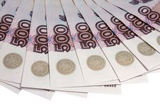 Denominations Advantage Of 500 Roubles Stock Photography