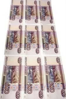 Denominations Advantage Of 500 Roubles Stock Photo