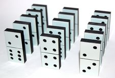 Free White Domino Stones Royalty Free Stock Photo - 7747865