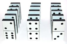 Free White Domino Stones Royalty Free Stock Photography - 7747867