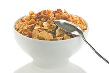 Free Bowl Of Cereal With Raisins Stock Photo - 7747980