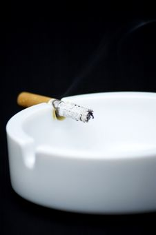 Free Cigarette Butt In Ashtray - No Smoking Stock Photography - 7748212