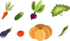 Free Vegetable Vector Royalty Free Stock Photography - 7748677