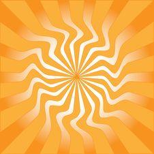 Orange Sunburst Vector Illustration Stock Photography