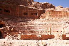 Free Theatre Of Rock City Petra  In Jordan Royalty Free Stock Image - 7749746
