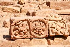 Stones In Rock City Petra In Jordan Royalty Free Stock Photo