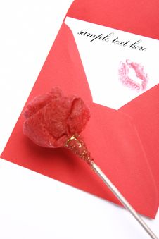 Free Envelope With A Kiss Royalty Free Stock Photos - 7749898