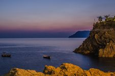 Free Sunset Cinque Terre Italy Stock Photography - 77443472
