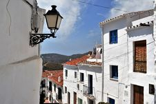 Free View From Narrow Street In Frigiliana, Spanish White Village Andalusia Royalty Free Stock Images - 77485729