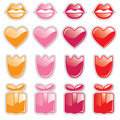 Free Valentine Web Buttons Stock Photography - 7750952