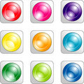 Free Set Of Color Buttons Royalty Free Stock Image - 7751376